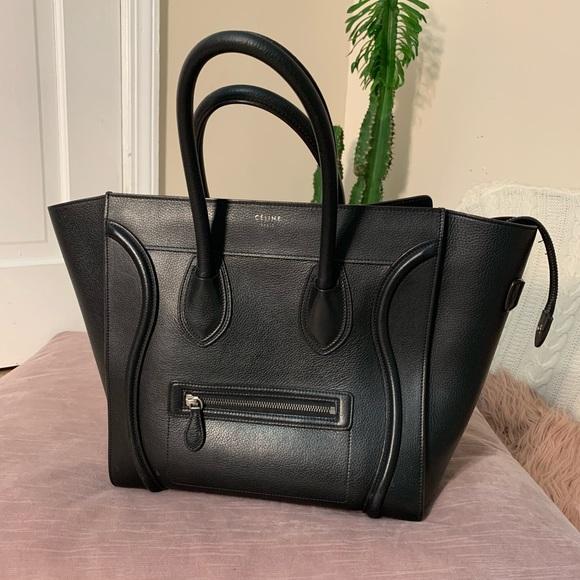 e02e99e80d8a Celine Handbags - Celine mini luggage tote pebbled authentic black